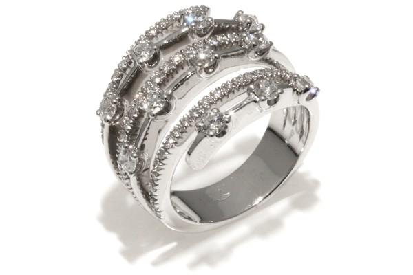 Famoso Romagioielli - Anelli da donna in oro bianco con diamanti naturali. IG79